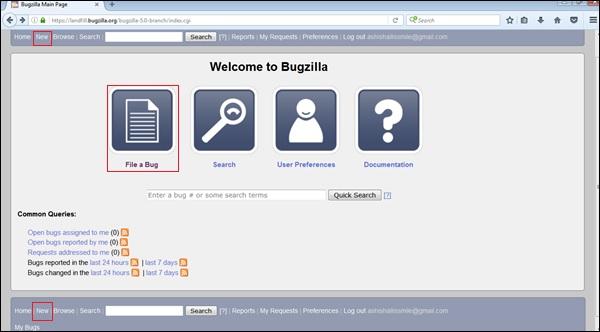 File Bug
