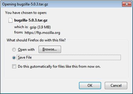 Opening Bugzilla