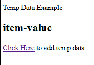 Add Temp Data