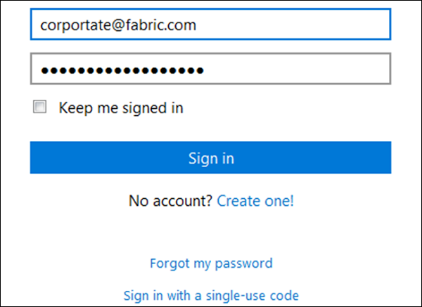 Sign in Account