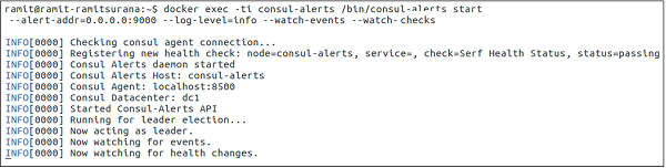 Consul failover events for Consul http health check