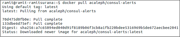 Consul failover events for Docker hub consul
