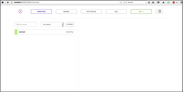 Consul using ui for Consul bootstrap