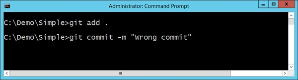 Build Failure Git Add Command