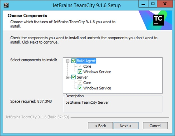 Default Components TeamCity Setup