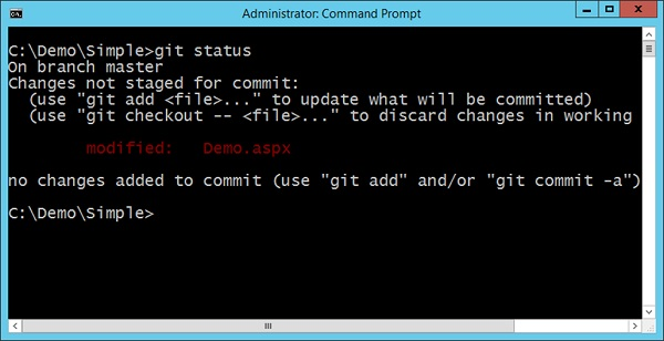 Git Status Command