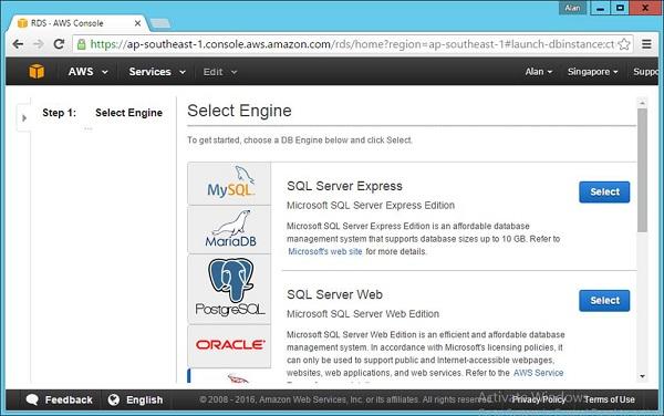 SQL Server Tab