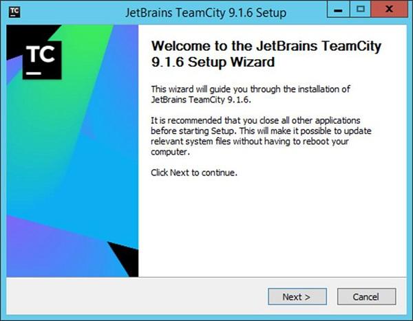 TeamCity Setup Wizard