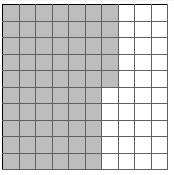 finding the percentage of a grid that is shaded