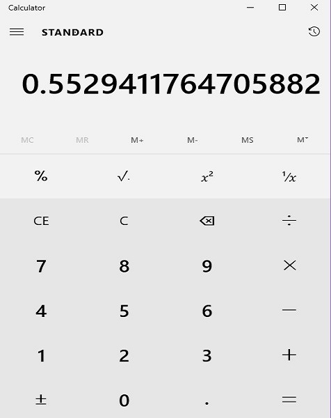 Calculator Example 1