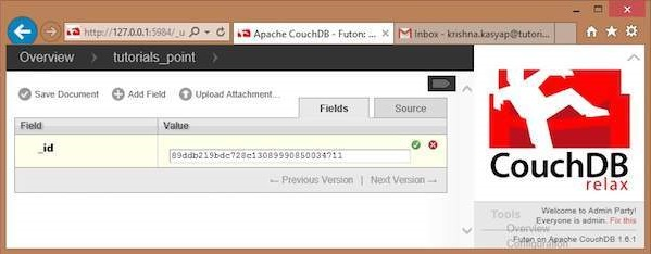 couchdb creating a document