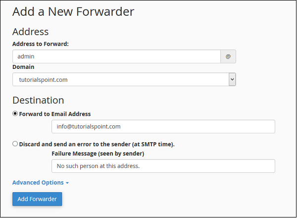 Add Forwarder