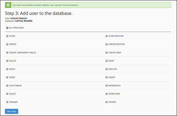 Add User Database