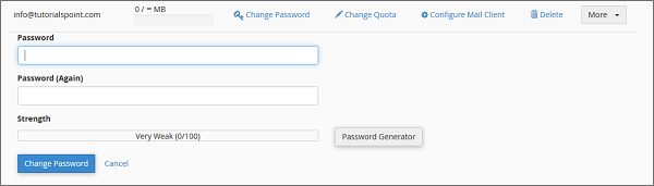Change Password Link