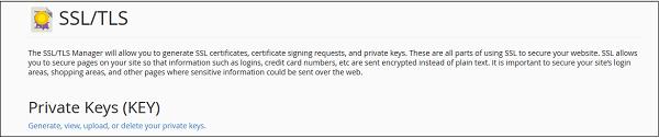 cPanel SSL/TLS