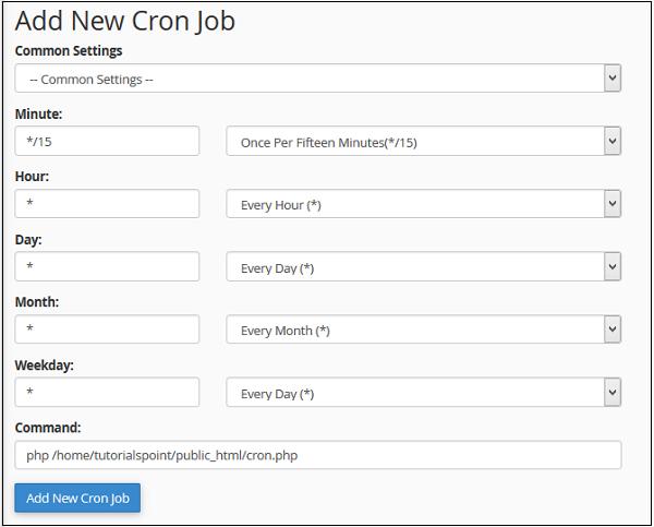 Cpanel Cron Jobs