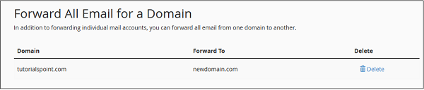 Forward Domain