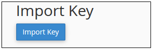 Import Key