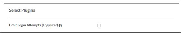 Select Plugins
