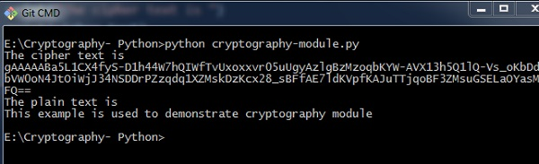 Python Modules of Cryptography