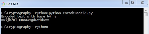 Cryptography with Python Base64 Encoding and Decoding