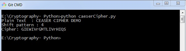 how to make a caesar cipher in python