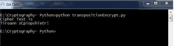 Encrypting Transposition