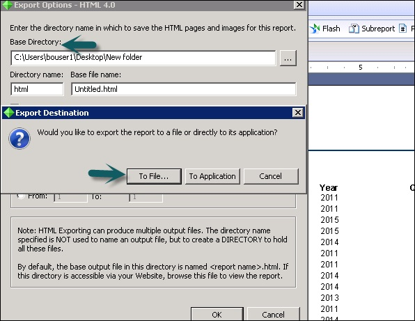 Crystal Reports Data Export To HTML