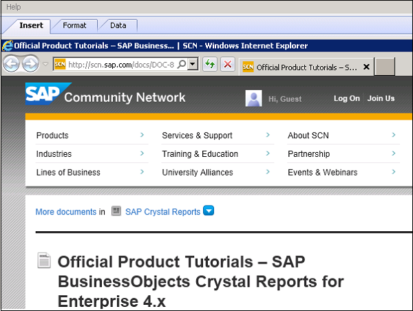 crystal report help Join curt frye for an in-depth discussion in this video, getting help in crystal reports 2011, part of crystal reports 2011 essential training.