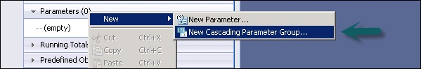 New Cascading Parameter Group