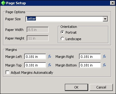 crystal reports page layout
