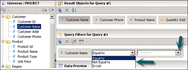 Query Filter Condition
