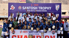 Services Won Santosh Trophy Football