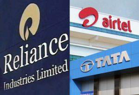 Tata, Reliance and Airtel