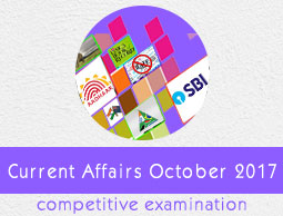 Current Affairs October 2017