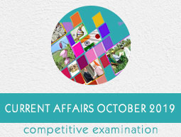 Current Affairs October 2019
