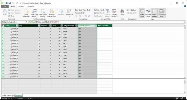 Adding Calculated Columns