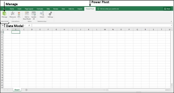 Manage Power Pivot