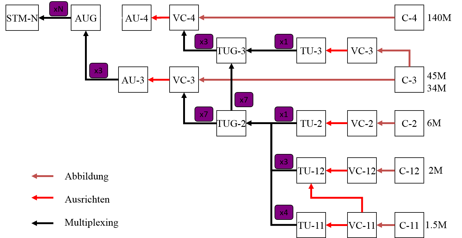 NGN - Synchrone Digitale Hierarchie