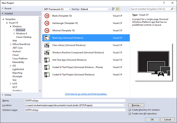 NET Core - Create UWP App - Tutorialspoint