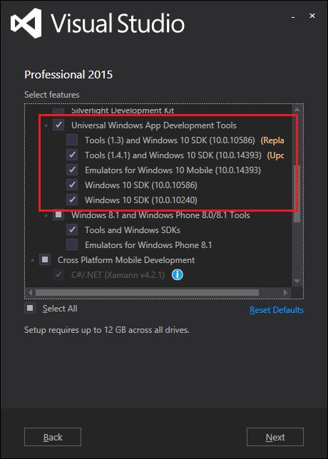 NET Core - Create UWP App