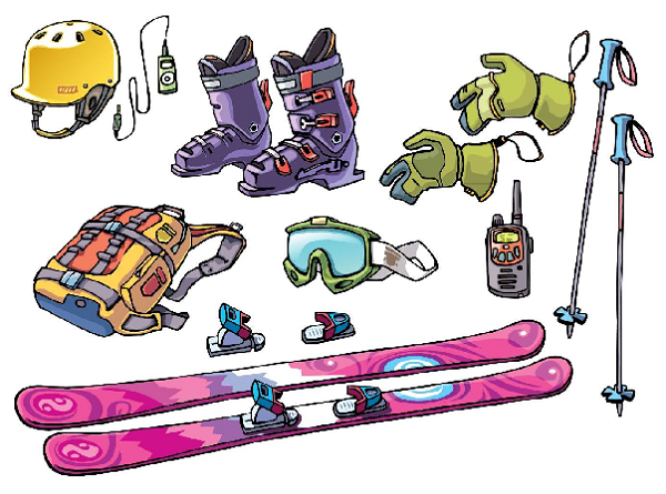 skiing accessories