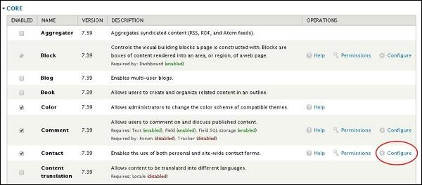 Drupal Contact Module