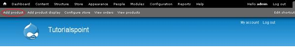 Drupal Create Products
