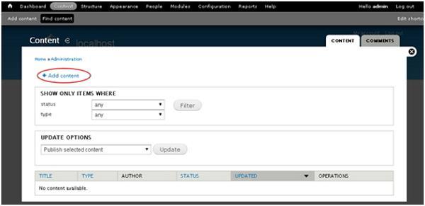 Drupal Create Blog