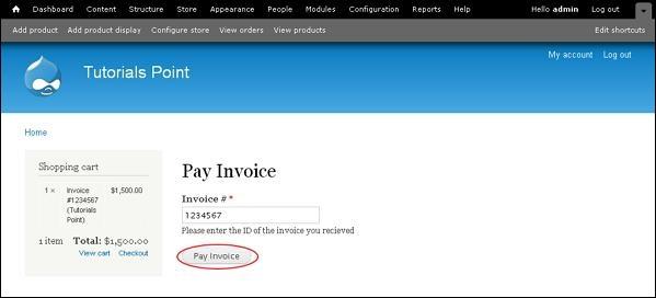 drupal invoice generation