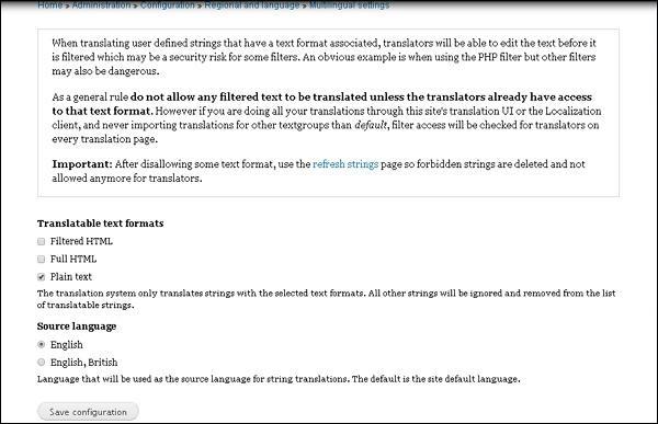 Drupal Multilingual Content