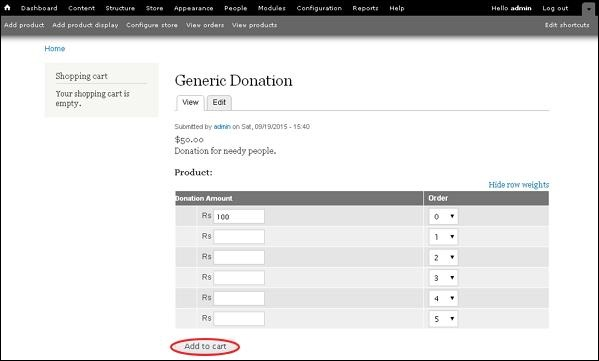 Drupal Receive Donations