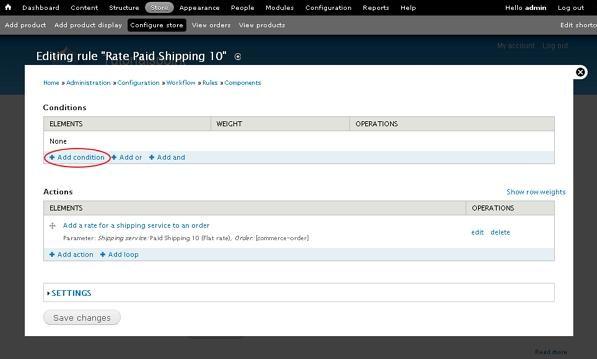Drupal Setup Shipping