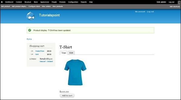 Drupal Setup Shopping Cart